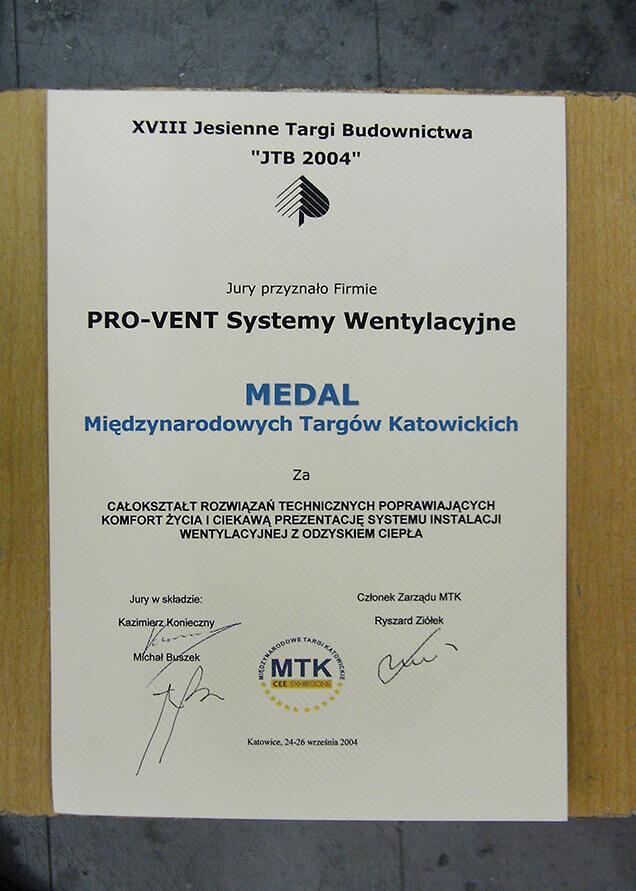 2004-medal-targi-katowice-pro-vent