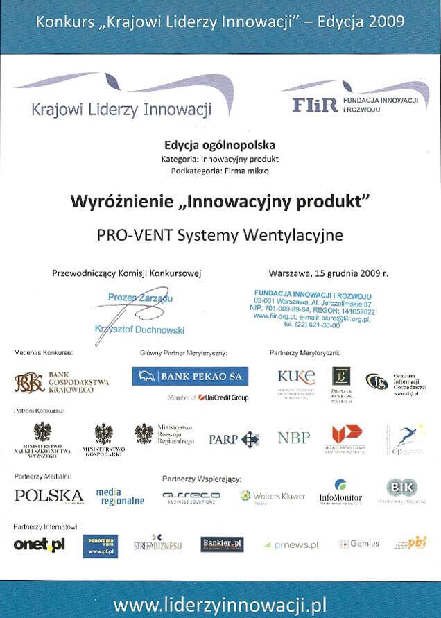2009-wyroznienie-innowacyjny-produkt-pro-vent